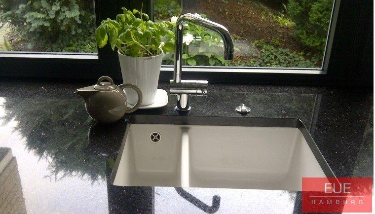 Küchen Unterbauspüle systemceram Mera 60 U aus Keramik