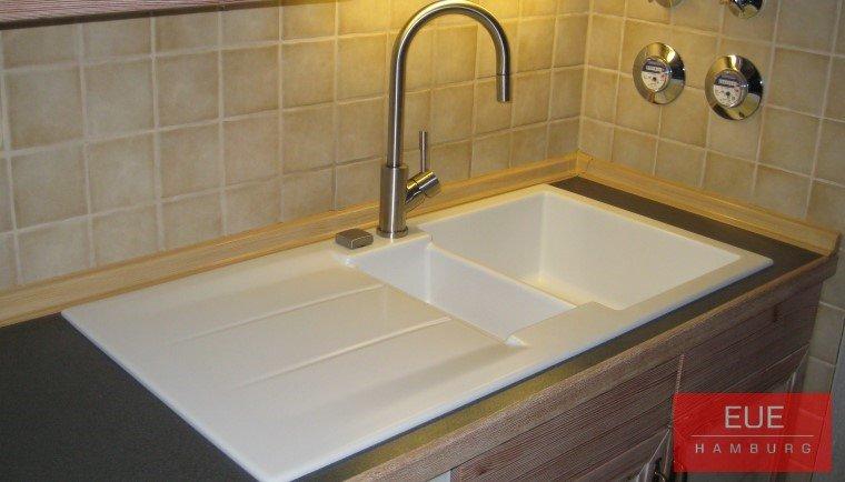 Küchen Spüle systemceram Genea 87 aus Keramik - 5091 - Angebot