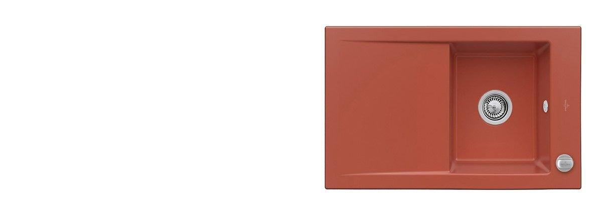 Farbe Coral keramikfarben für spüle villeroy und boch für ihre küche