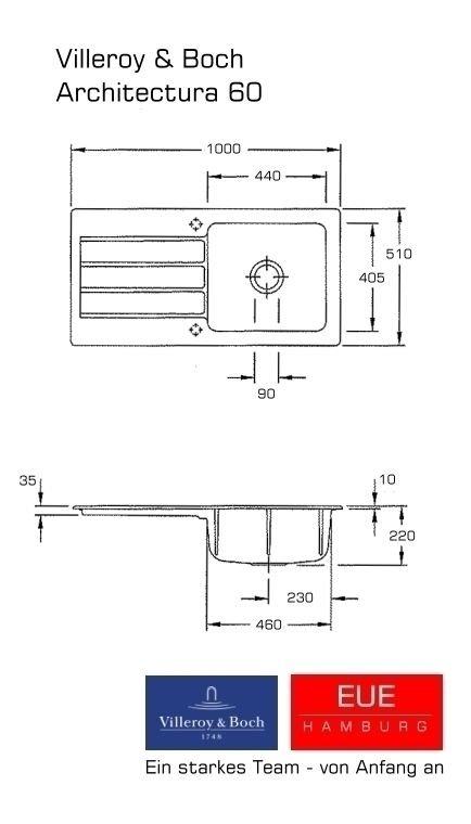keramiksp le architectura 60 von villeroy und boch f r die k che. Black Bedroom Furniture Sets. Home Design Ideas