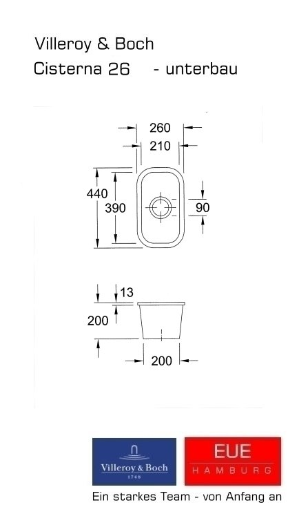 unterbausp le cisterna 26 aus keramik von villeroy und boch. Black Bedroom Furniture Sets. Home Design Ideas