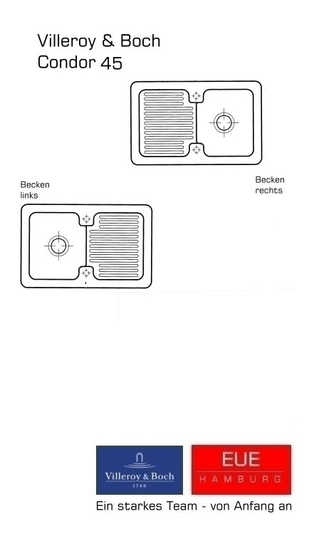 villeroy boch keramiksp le condor 45 beckenseite erl uterungen. Black Bedroom Furniture Sets. Home Design Ideas