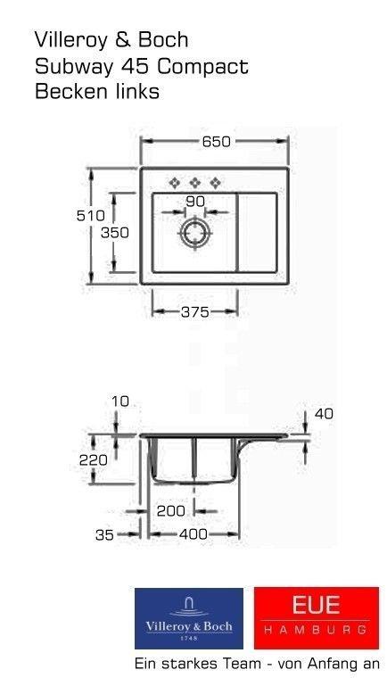 sp le subway 45 compact becken links aus keramik von. Black Bedroom Furniture Sets. Home Design Ideas