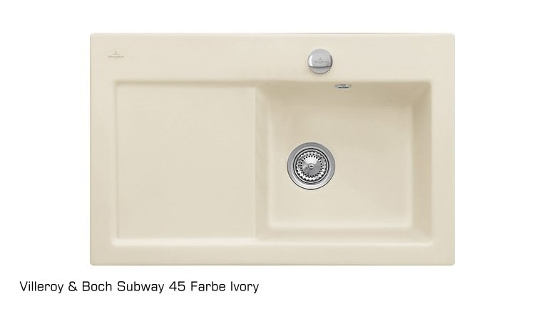 sp le subway 45 becken links aus keramik von villeroy und boch. Black Bedroom Furniture Sets. Home Design Ideas