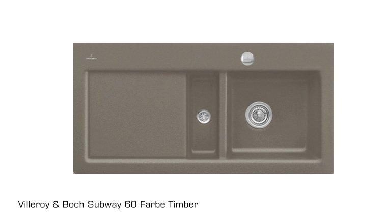 sp le subway 60 becken rechts aus keramik von villeroy und boch. Black Bedroom Furniture Sets. Home Design Ideas