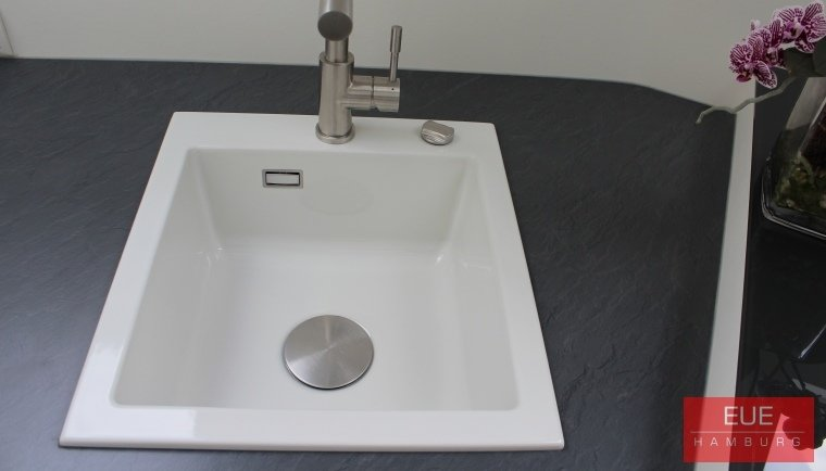 Küchen Spüle systemceram Mera 46 aus Keramik - 5056 - Angebot