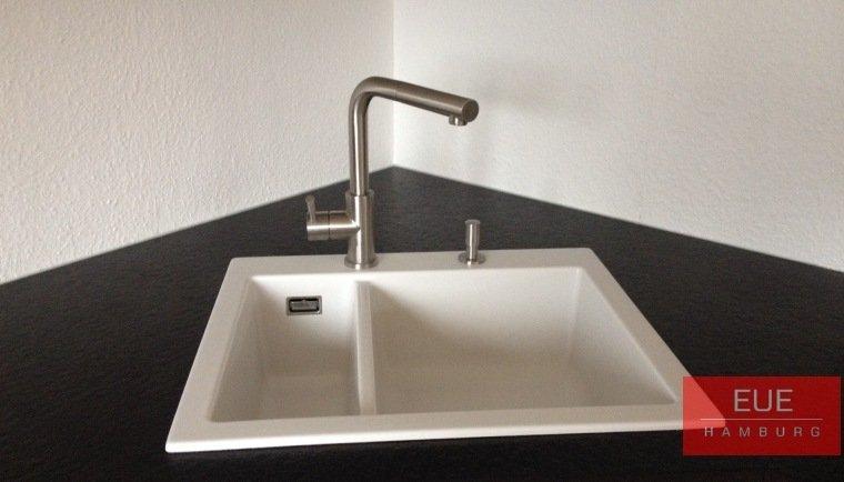 Küchen Spüle systemceram Mera 60 aus Keramik - 5098 - Angebot